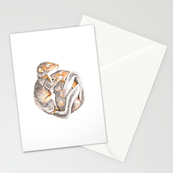 Sleeping Squirrels Stationery Cards