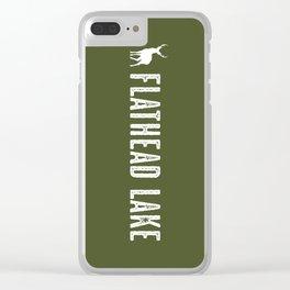 Deer: Flathead Lake, Montana Clear iPhone Case