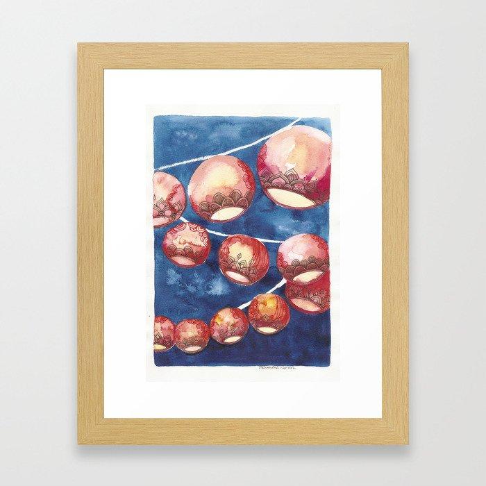 Chinese Lanterns Framed Art Print