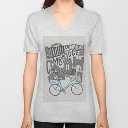 Cambridge Cityscape Unisex V-Neck