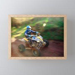 ATV offroad racing Framed Mini Art Print