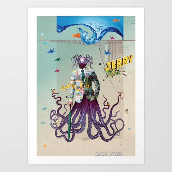 Mr Octapius Art Print