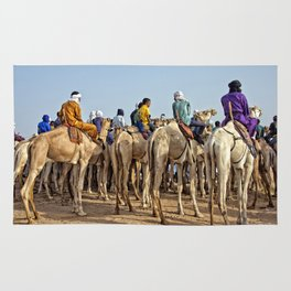 Nomads and camels - Niger, West Africa Rug