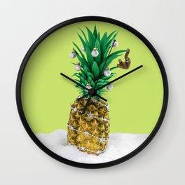 Christmas pineapple Wall Clock