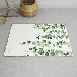 Eucalyptus Watercolor 2  Rug