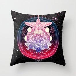 Hummingbird Mandala Throw Pillow