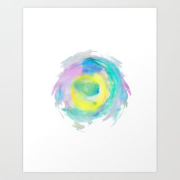 abstract watercolor 8 Art Print