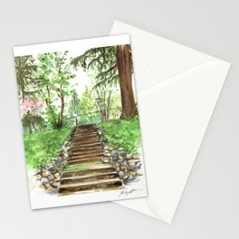 Watercolor Steps Stationery Cards