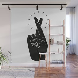 Fingers Crossed Wall Mural