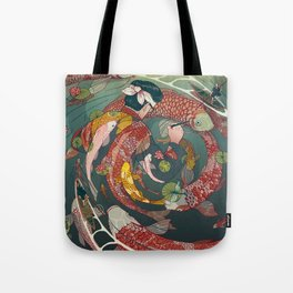 Ukiyo-e tale: The creative circle Tote Bag