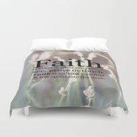 faith Duvet Covers featuring Faith by terimichellec