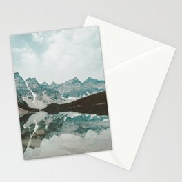 Moraine Lake Mountain Reflection Summer Stationery Cards