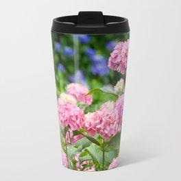Pink & Lavender Flower Clusters Travel Mug