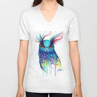 aurora V-neck T-shirts featuring -Aurora- by PeeGeeArts