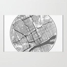 Detroit Map Universe Rug