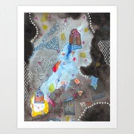 Tardis Ascending Art Print
