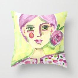 Lavender Lady Throw Pillow