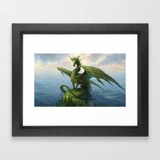 Green Dragon v2 Framed Art Print