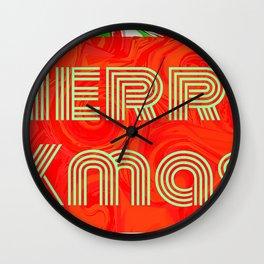 Merry Xmas 3 Wall Clock
