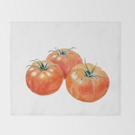 Three Tomatoes Throw Blanket