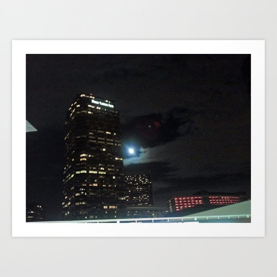 CENTURY CITY BY NIGHT Art Print