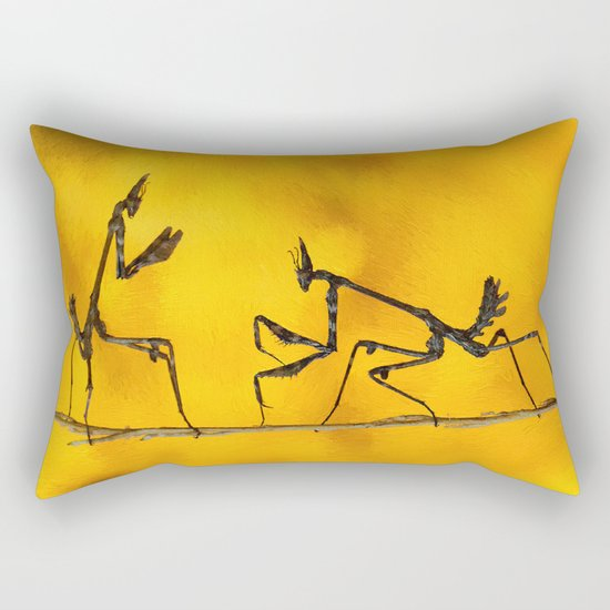 Praying Mantis vs Praying Mantis Rectangular Pillow