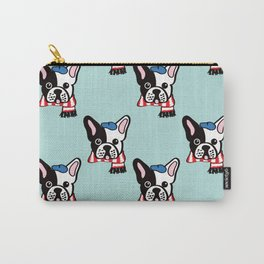 French Bulldog in Robins Egg Blue Carry-All Pouch