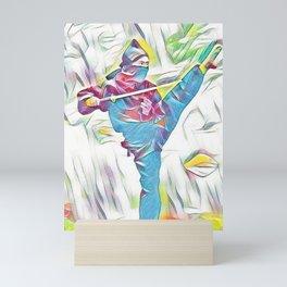 Colourful Samurai Ninja Warrior  Mini Art Print
