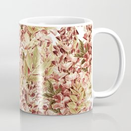 Vintage boho mauve pink dusty green floral Coffee Mug
