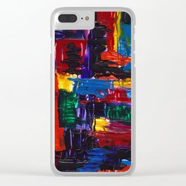 Patchwork Quilt Clear iPhone Case
