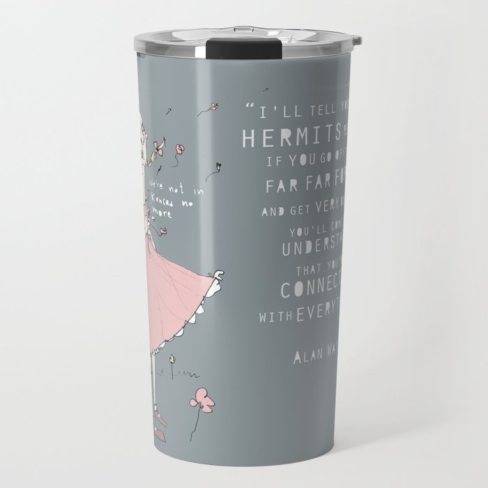 Hermit - Alan Watts Travel Mug