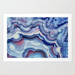 Agate lace Art Print