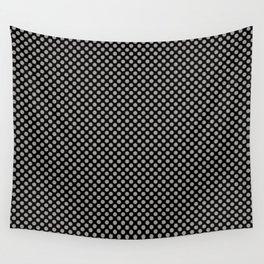 Black and Paloma Polka Dots Wall Tapestry