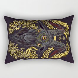 Black Goat of the Woods Rectangular Pillow