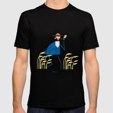 A walk with Van Gogh Black Mens Fitted Tee MEDIUM