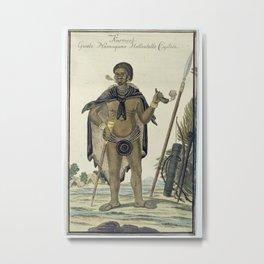 Karmoeb, Captain of the Namaqua Khoisan, Robert Jacob Gordon (attributed to), 1777 - 1786 Metal Print