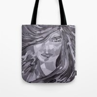plain Tote Bags featuring Plain Jane by Sartoris ART