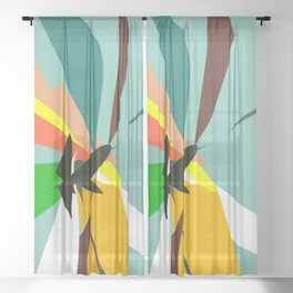 Abstract 03C Sheer Curtain
