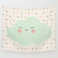 cloud Wall Tapestries featuring cloud by Natashagrace