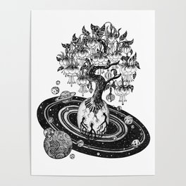 Space tree of Life Poster