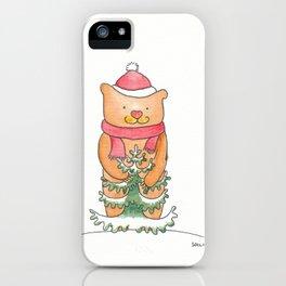Yule Bear iPhone Case