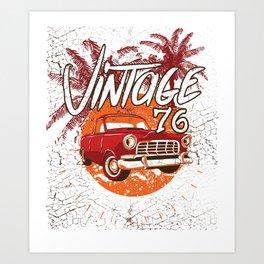 Vintage Power 76 Classic Hod Rod Art Print