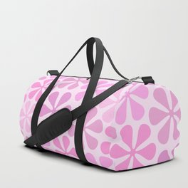 Abstract Flowers in Pinks Duffle Bag