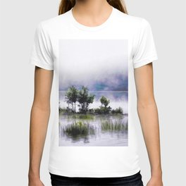 Watercolor Painting of Landscape on the Water (Color) T-shirt