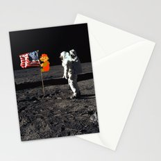 Super Mario on the Moon Stationery Cards