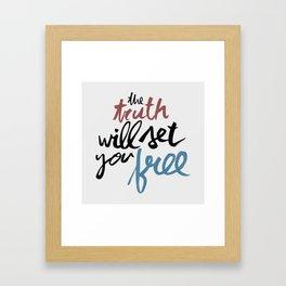 John 8:31-32 Framed Art Print