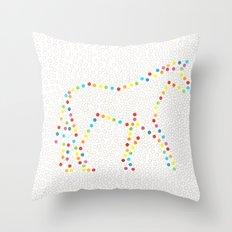 Dot Unicorn Throw Pillow