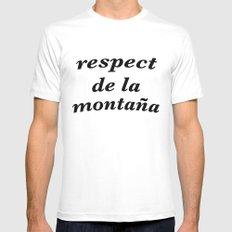 respect de la montana White MEDIUM Mens Fitted Tee