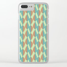 Shadow Leaves Stripes Clear iPhone Case