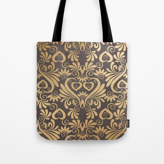 Gold swirls damask #5 Tote Bag